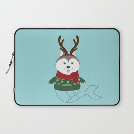 Happy Pet in Ugly Christmas Sweaters Laptop Sleeve