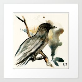 The Watching bird Art Print