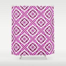 Shibori Watercolour no.7 Magenta Shower Curtain