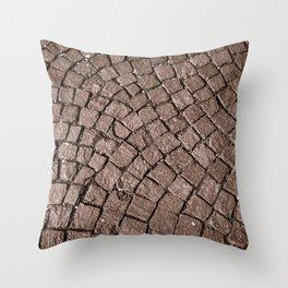 Cobblestone Curves Throw Pillow