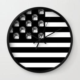 US Minifigure Flag - Horizontal Wall Clock