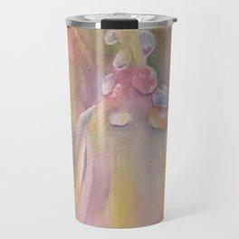 Pastel Dew Drops on Bell Flowers Travel Mug