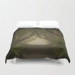 Mysterious alley at dawn Duvet Cover