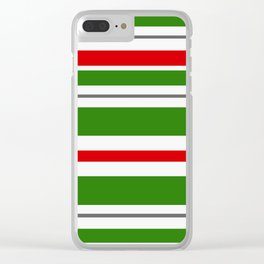 Candy Cane Lane Racer Stripe Clear iPhone Case