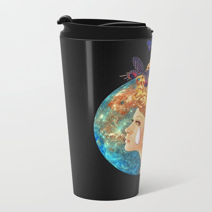Under the Blue Moon I Saw You Metal Travel Mug