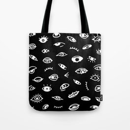 Bad Eyes (Black) Tote Bag
