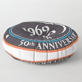Moon landing 50th year anniversary badge Floor Pillow