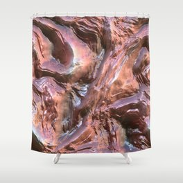 Wet Metal Structure Shower Curtain