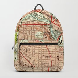 Vintage Map of Youngstown Ohio (1951) Backpack