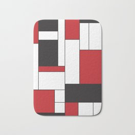 Geometric Abstract - Rectangulars Colored Bath Mat