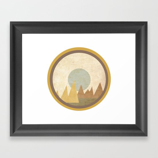 Moon & Mountains Framed Art Print