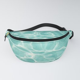 Water Abstract Photography, Teal Ocean, Turquoise Sea, Water Ripple Seascape Fanny Pack