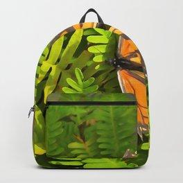 Orange Monarch Butterfly WC Backpack