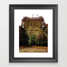 Nature finds the way inside... Framed Art Print
