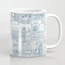 Edinburgh toile denim white Coffee Mug