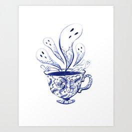 Ghost Teacup Art Print
