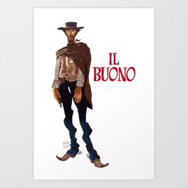 Il buono. The good, the bad and the ugly Art Print