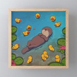 Otter Framed Mini Art Print