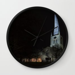 Crooked spire 2 Wall Clock