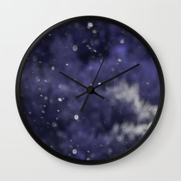 Holidaze Purple with SnowFlakes by CheyAnne Sexton Wall Clock