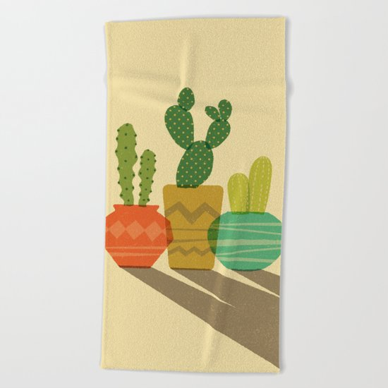 Cactus Trio Beach Towel
