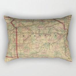 Vintage Missouri Railroad Map (1872) Rectangular Pillow