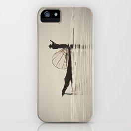 Fisherman at Inle Lake iPhone Case