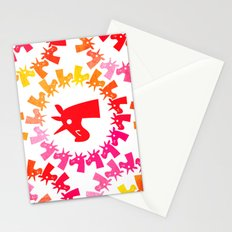 Color Me Red Unicorn Stationery Cards