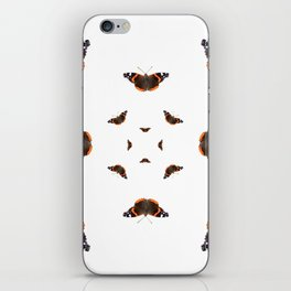 "Butterflies of the specie ""Vanessa atalanta"" iPhone Skin"