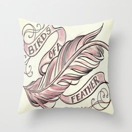 Birds Of A Feather Throw Pillow