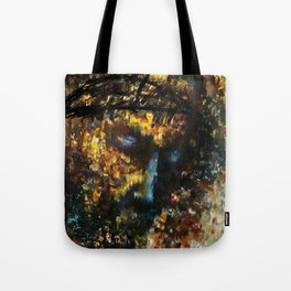 jesus christ abstract painting Tote Bag