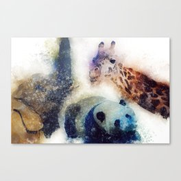Animals Painting Canvas Print