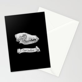 Dog Skull in Ink Stationery Cards