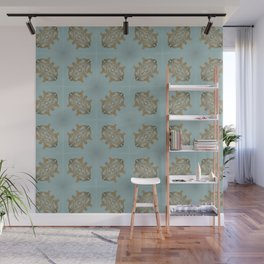 Soft Teal Blue & Gold No. 6 Wall Mural