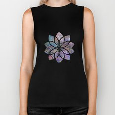 Floral Abstract 5 Biker Tank