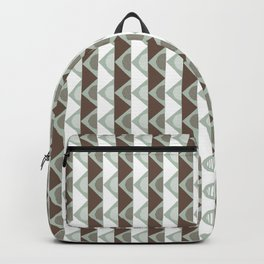 Boho Tribal Mud Cloth - Brown Green Grey Beige Backpack