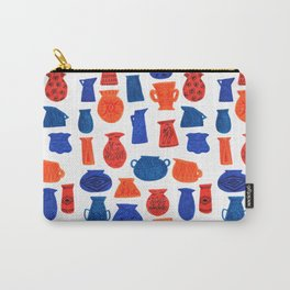Pottery in Blue and Red by Amanda Laurel Atkins Carry-All Pouch