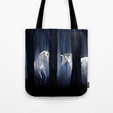 White Unicorns Tote Bag