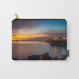Here she comes again the sun rising at Port San Luis vila Beach Carry-All Pouch