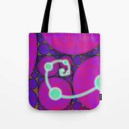 Dark Fibonacci Spiral Fractal Tote Bag