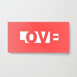 Red Love Metal Print