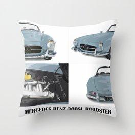 Classic blue car Throw Pillow