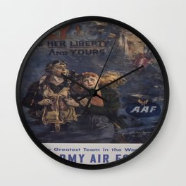 Vintage poster - Air Forces Wall Clock