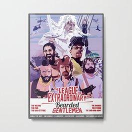 The League of Extraordinary Bearded Gentlemen Metal Print