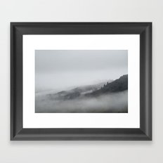 Rain clouds on the mountainside. Little Langdale, Cumbria, UK. Framed Art Print