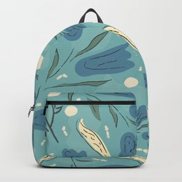 Blue Forest Flower. Magical Forest Backpack