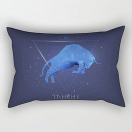 Hi tech Taurus sign symbol gifts for boys and girls. Zodiac symbols. Rectangular Pillow