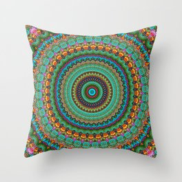 bohemian rhapsody  Mandala Throw Pillow