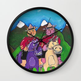 Canadian Cats Wall Clock