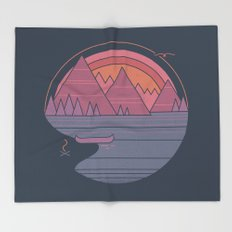 The Mountains are Calling Throw Blanket